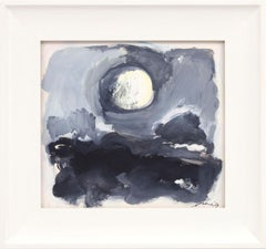 Moonscape, Eugene Brands, 1967 (abstract expressionist landscape at night)