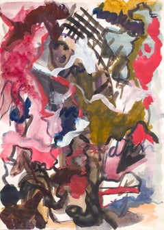 Untitled, René Daniëls, 1983 (abstract expressionist watercolor)