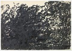 Tekening 4, Drawing 4, Johan Lennarts, 1960 (expressionist ink drawing)