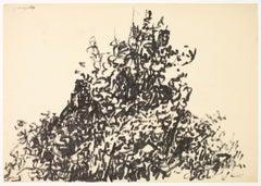 Tekening 5, Drawing 5, Johan Lennarts, 1960 (expressionist ink drawing)