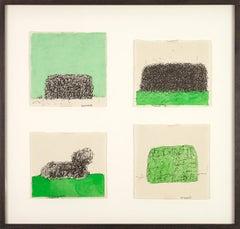Untitled, Johan Lennarts (4 framed abstract drawings)