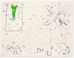 Untitled, Johan Lennarts (abstract expressionist drawing)