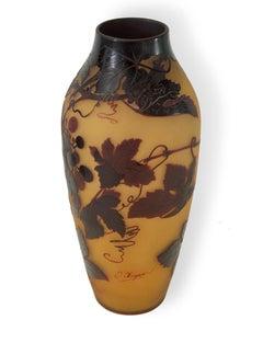D' Argental cameo glass vase