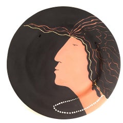 Syma, Woman with Pearl Necklace - A Muse Charger, Ceramic with Gold Leaf, 2012