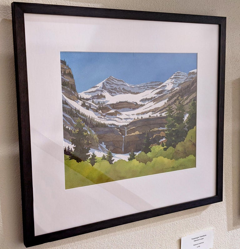 Timpanogos Transitions - Brown Landscape Painting by Rebecca Livermore