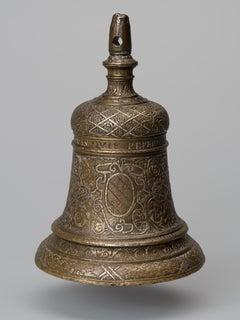 Damascened Bronze Handbell Italy Verona 16th Century