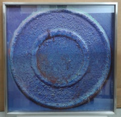 Untitled by Yuko Nasaka.  Resin and lacquer on board (1984) (abstract sculpture)