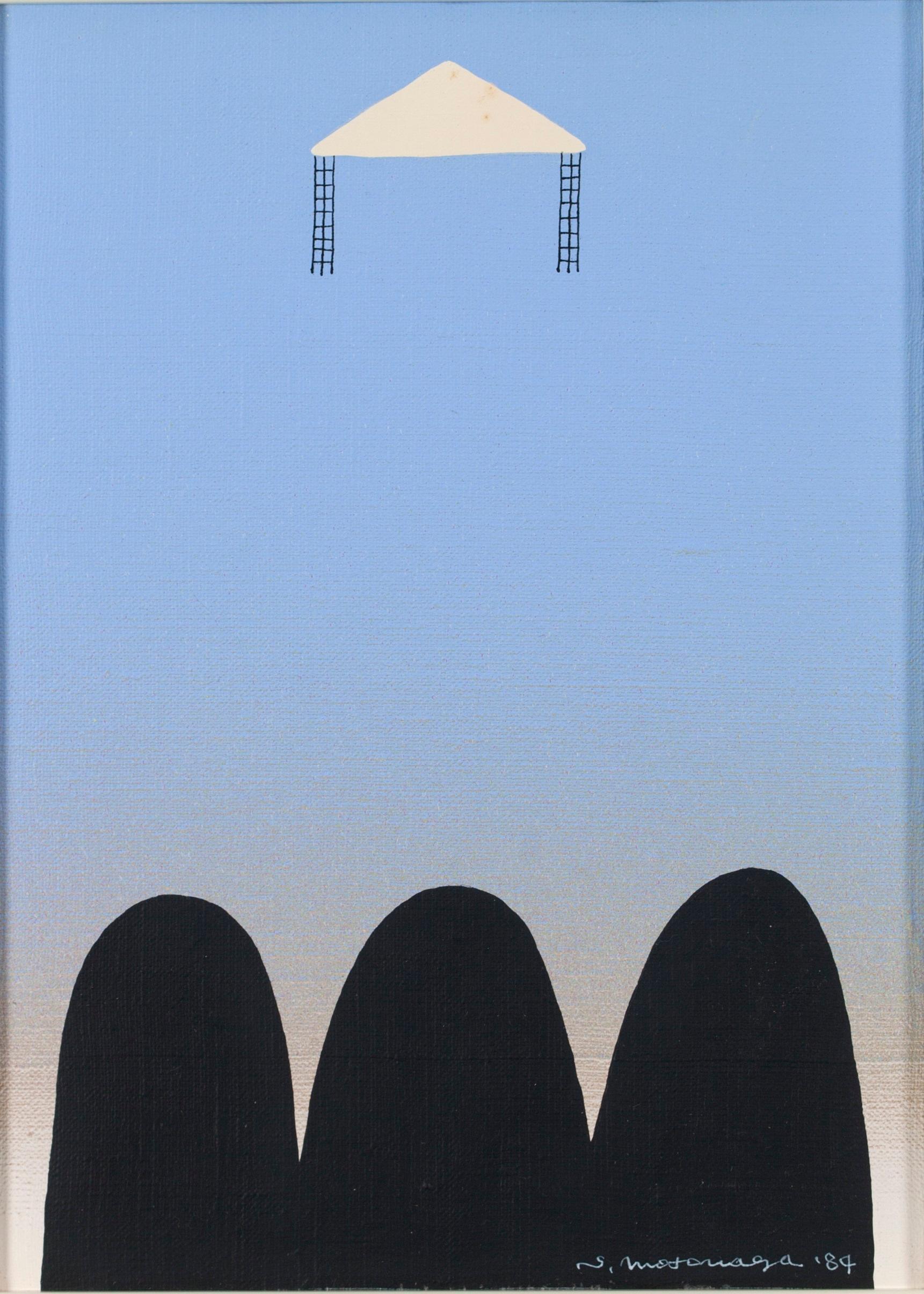 Untitled. Acrylic on canvas painting by Sadamasa Motonaga executed in 1984