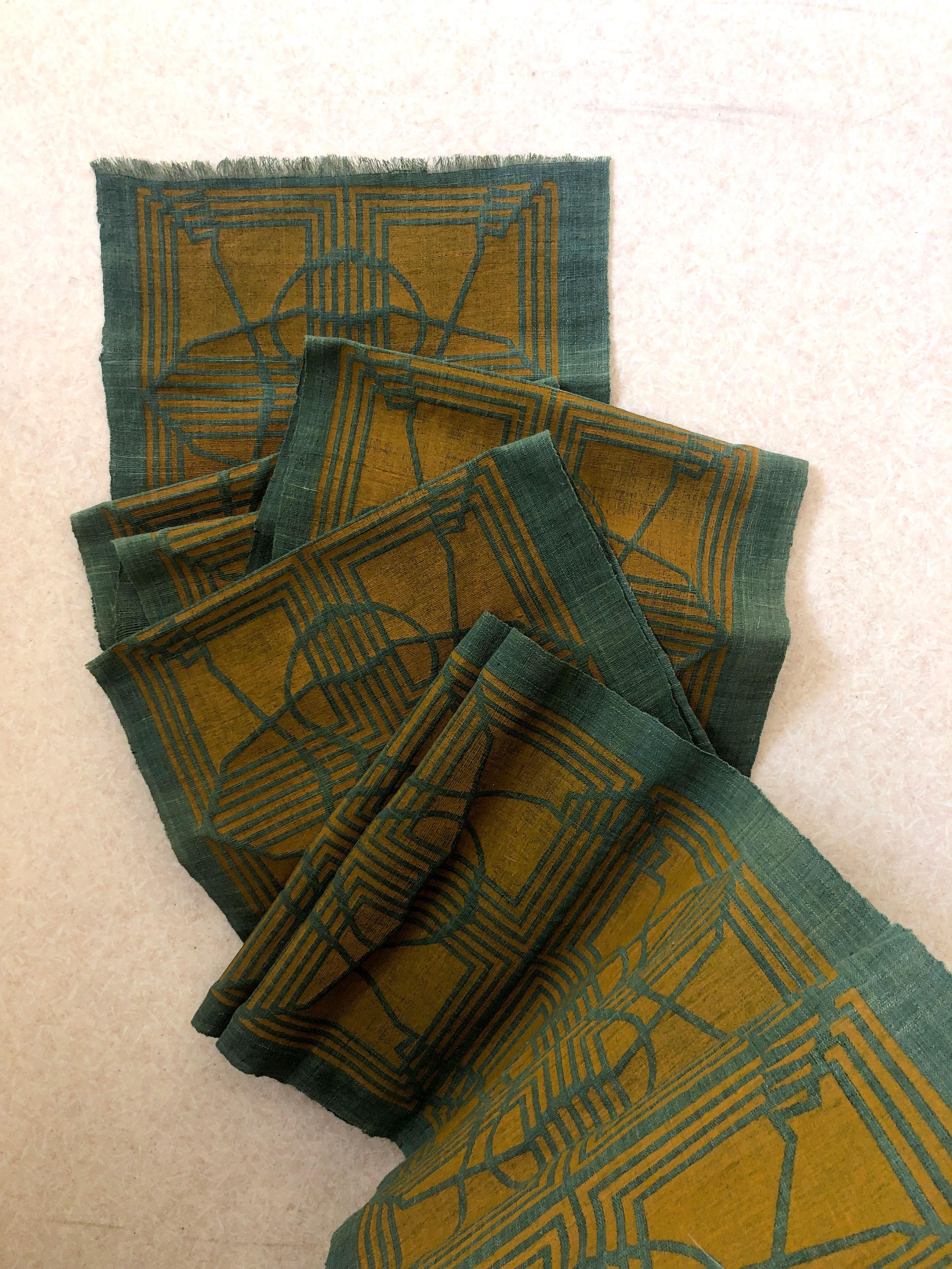 "Daniel Villela, ""Motif Leroy"", treadle loom, natural cotton fabric"