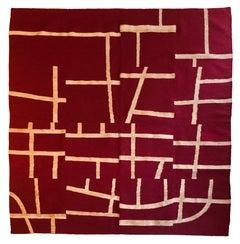 "Daniel Villela, ""Tapiz Yuroku"", Tapestry, Rug, Yute, dyed, treadle loom"