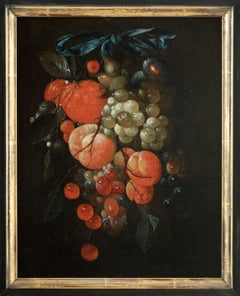 Festoon of fruit, Still Life Painting, Old Master, 17th Century, By De Heem