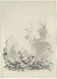 Rococo Drawings and Watercolor Paintings