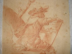 Self Portrait of an Artist, Old Master Drawing, Figurative, 17th Century, German