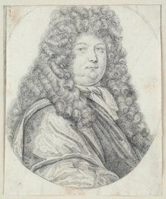 Portrait of a Nobleman, Louis de Bourbon?, Old Master Drawing, 18th Century