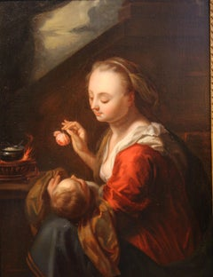 Mother with Child, 18th Century, Figurative Painting, Old Master by Franssen