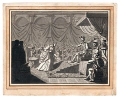 Theatre Scene, Opera, Old Master Drawing, Griselidis, Mallet, French Art