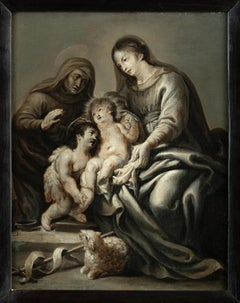 Cornelis Schut, Rubens Circle, Grisaille, Mary with Child, Flemish, Old Master