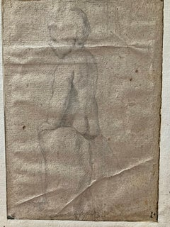 Flemish School, Portrait Young Boy, Old Master Drawing
