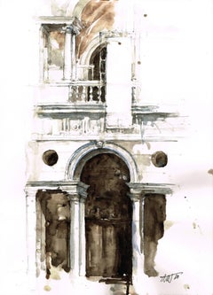 """Basilica"" - Venice - Architectural Watercolor Painting - Turner"