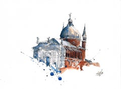 """Il Redentore"" - Venice - Architectural Watercolor Painting - Turner"