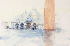 """San Marco After the Rain"" - Venice - Architectural Watercolor Painting - Turner"