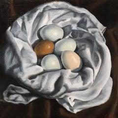"""Appreciation for New Beginnings"" - Still Life Painting - Eggs - Jewel - Realism"