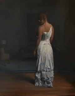 'Hallway' - figurative painting - American Realism - Raphael