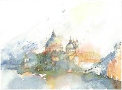"""Santa Maria della Salute I"" - Venice - Watercolor Painting - Turner"