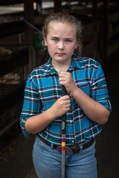 """""""Girl with Stock Prod, Cummington Fair"""" - Southern Documentary Photography"""