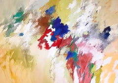"""Scudding My Thoughts"" Nature-based Color Field Abstract Painting Joan Mitchell"