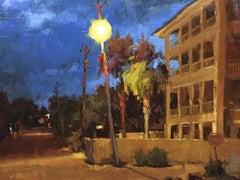 """Grayton Nocturne"" - Impressionist Plein Air Landscape Painting - Wyeth"