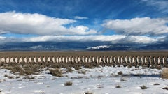 """""""Walking Line in New Mexico"""" - Figurative Landscape Photography - Goldsworthy"""