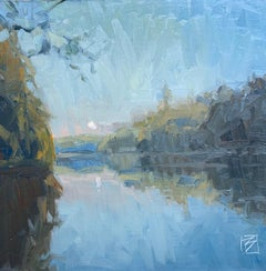 """The River"" - Impressionist Plein Air Landscape Painting - Wyeth"
