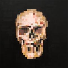 """Omega III' - Contemporary Geometric Abstraction - Pixelation - Skull - Bosch"