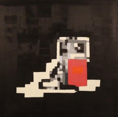 'The Pump' - Contemporary Geometric Abstraction - Pixelation - Bosch