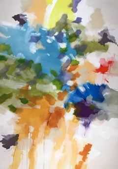 """""""Aerial View"""" - Nature-based Color Field Abstract Painting - Joan Mitchell"""
