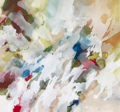 """""""Feather Veil"""" - Nature-based Color Field Abstract Painting - Joan Mitchell"""