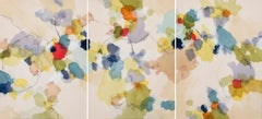 """""""Found Objects V"""" - Nature-based Color Field Abstract Painting - Joan Mitchell"""