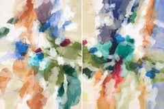 """""""High Summer"""" - Nature-based Color Field Abstract Painting - Joan Mitchell"""