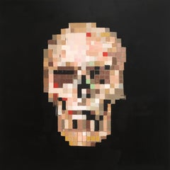 'Omega I' - Contemporary Geometric Abstraction Pixelation - Skull - Bosch