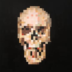 'Omega II' - Contemporary Geometric Abstraction Pixelation - Skull - Bosch