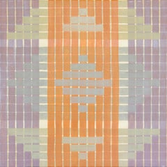 'Daily' - Geometric Abstract Painting - Anni Albers - Agnes Martin