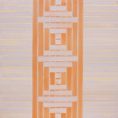 'Three' - Abstract Painting - Pattern - Anni Albers - Agnes Martin