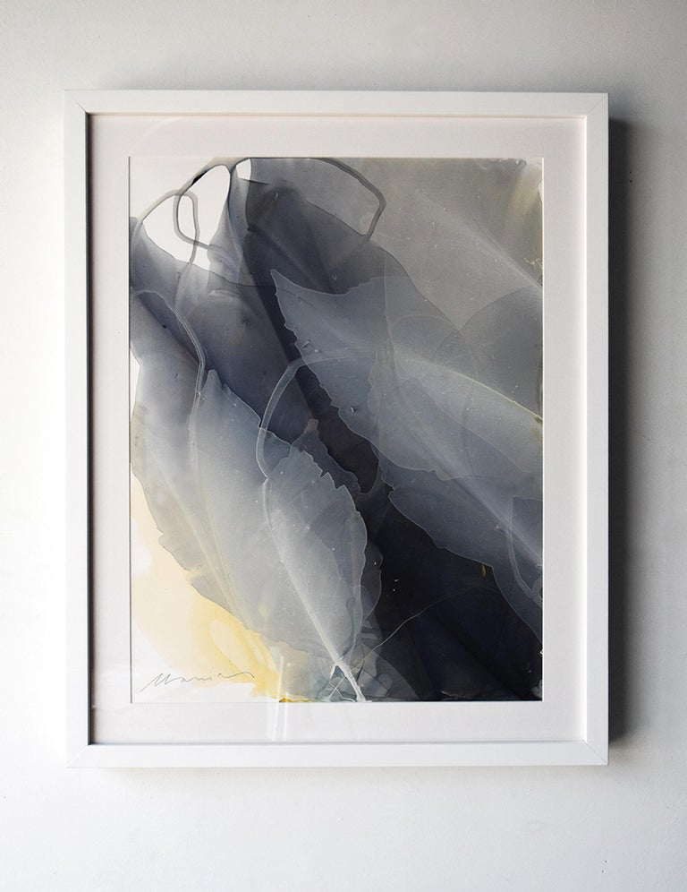 'Movement Study in Charcoal Black' - Nature inspired Abstract - Paul Jenkins - Art by Marina Dunbar