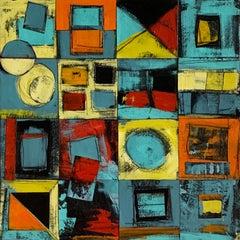 """Calendar Series: Four Seasons I"" - Contemporary Abstract Collage - de Staël"