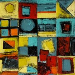 """Calendar Series: Four Seasons II"" - Contemporary Abstract Collage - de Staël"