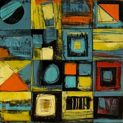 """Calendar Series: Four Seasons III"" - Contemporary Abstract Collage - de Staël"