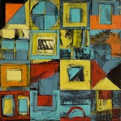 """Calendar Series: Four Seasons IV"" - Contemporary Abstract Collage - de Staël"
