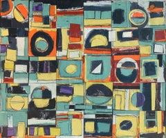 """Still Connected"" - Contemporary Abstract Collage - Nicolas de Staël"