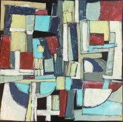 """Signposts"" - Contemporary Abstract Collage - Nicolas de Staël"